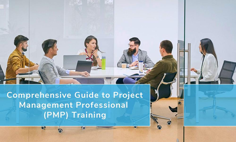 Project management professional doing PMP training